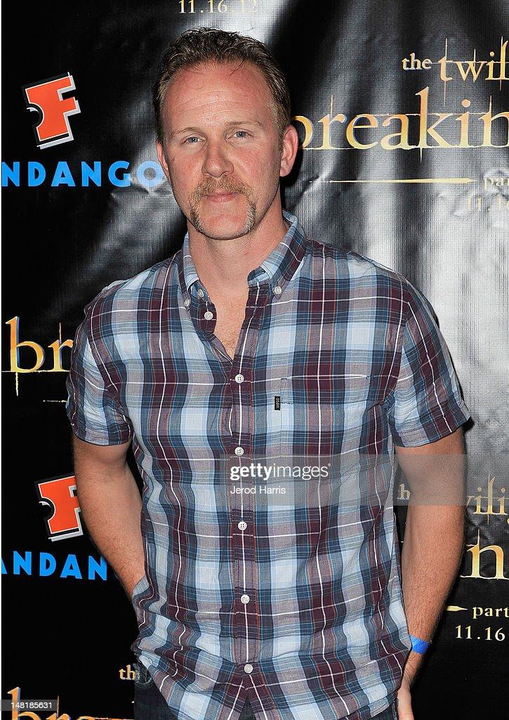 Filmmaker Morgan Spurlock attends 'The Twilight Saga: Breaking Dawn Part 2' VIP Comic-Con Celebration Sponsored by Fandango at Float in the Hard Rock Hotel on July 11, 2012 in San Diego, California.