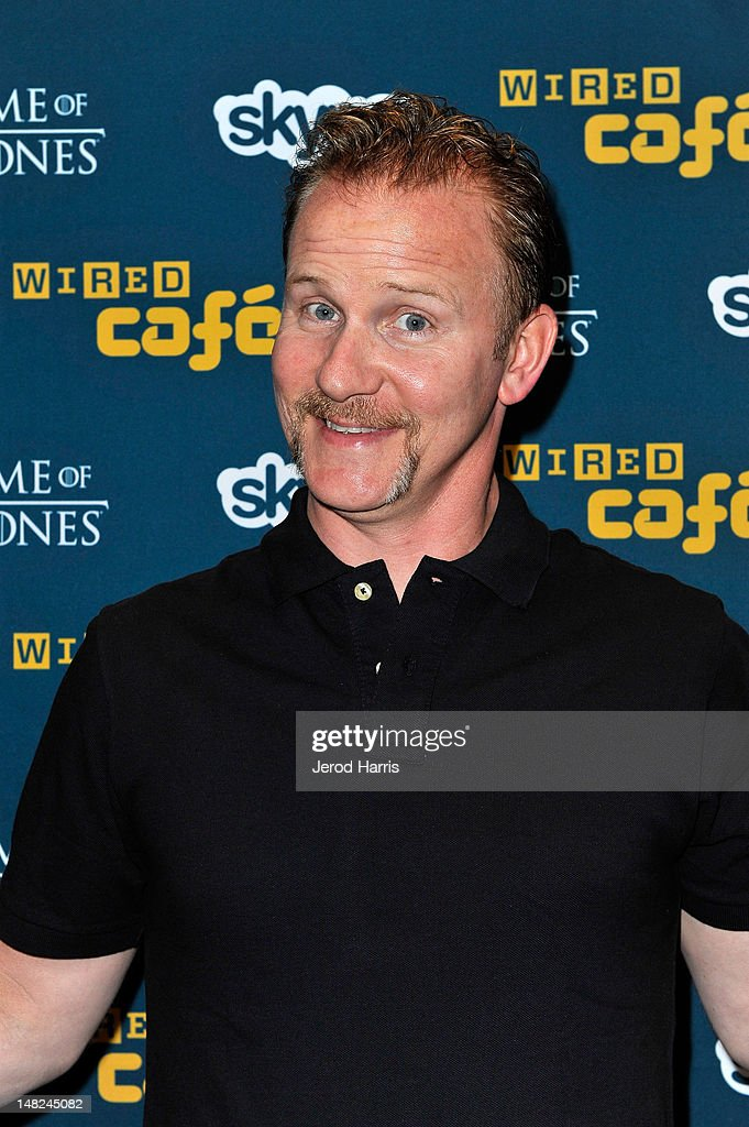 Filmmaker Morgan Spurlock attends WIRED Cafe at Comic-Con held at Palm Terrace at the Omni Hotel on July 12, 2012 in San Diego, California.