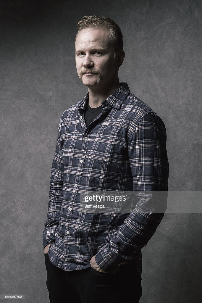 Filmmaker Morgan Spurlock is photographed at the Sundance Film Festival for Self Assignment on January 21, 2013 in Park City, Utah.
