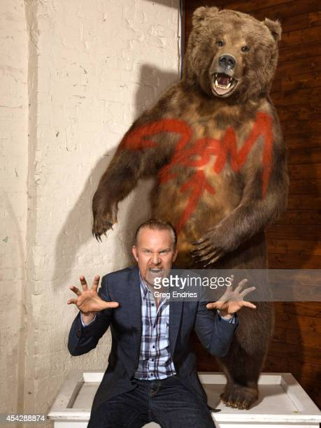 Filmmaker Morgan Spurlock is photographed in his office for Emmy Magazine on January 22 in Soho New York City