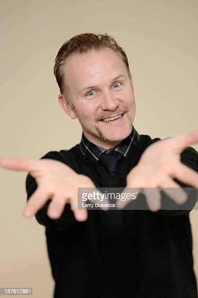 Filmmaker Morgan Spurlock poses for a portrait during the 2012 Sundance Film Festival at the Getty Images Portrait Studio at TMobile Village at the...