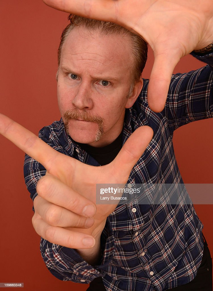 Filmmaker <a gi-track='captionPersonalityLinkClicked' href=/galleries/search?phrase=Morgan+Spurlock&family=editorial&specificpeople=212719 ng-click='$event.stopPropagation()'>Morgan Spurlock</a> poses for a portrait during the 2013 Sundance Film Festival at the Getty Images Portrait Studio at Village at the Lift on January 21, 2013 in Park City, Utah.