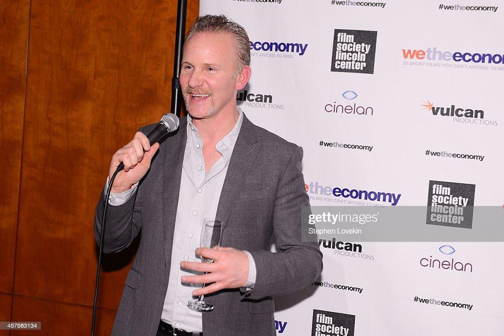 Filmmaker Morgan Spurlock speaks at Paul G Allen's Vulcan Productions and Morgan Spurlock's Cinelan presentation of the world premiere of 'We The...