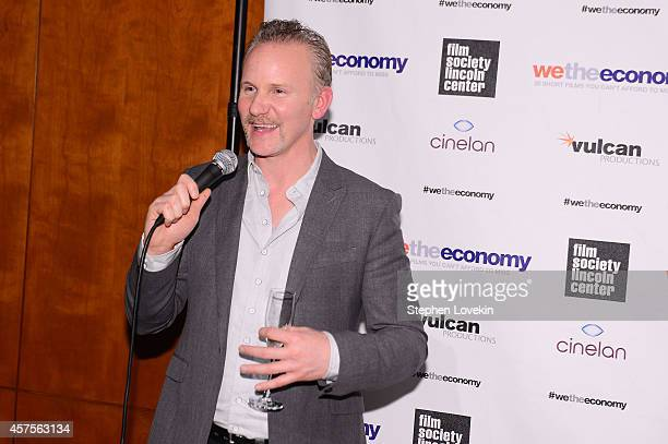 Filmmaker Morgan Spurlock speaks at Paul G Allen's Vulcan Productions and Morgan Spurlock's Cinelan presentation of the world premiere of 'We The...