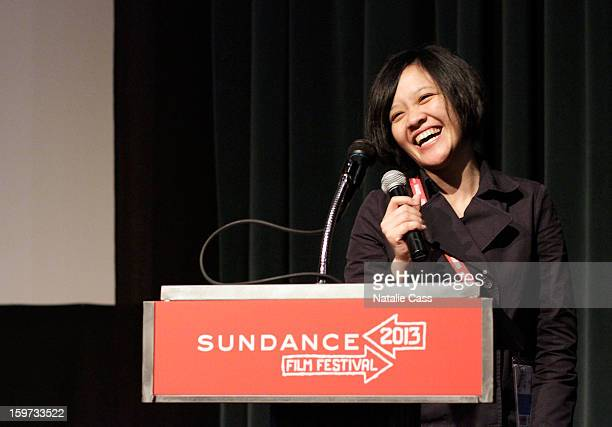 Filmmaker Mouly Surya speaks at the 'What They Talk About When They Talk About Love' premiere at Prospector Square during the 2013 Sundance Film...