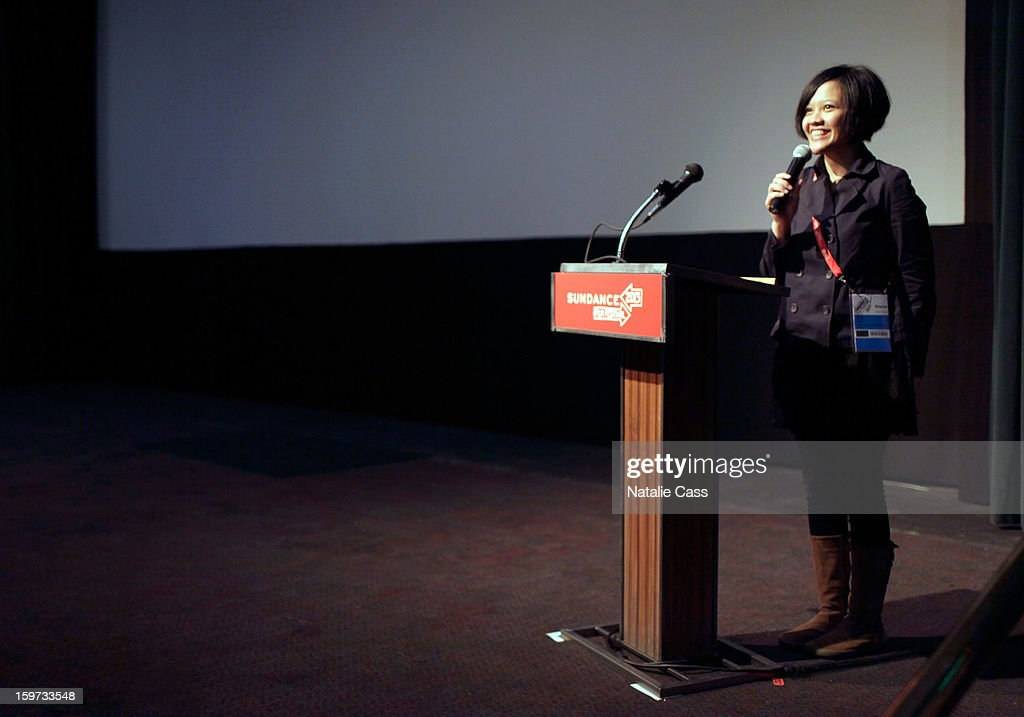 Filmmaker Mouly Surya speaks at the 'What They Talk About When They Talk About Love' premiere at Prospector Square during the 2013 Sundance Film Festival on January 19, 2013 in Park City, Utah.