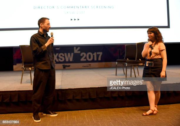 Filmmaker Nicolas Menard and Meghan Oretsky of Vimeo speak onstage at 'Vimeo Staff Picks Live Director's Commentary' during 2017 SXSW Conference and...