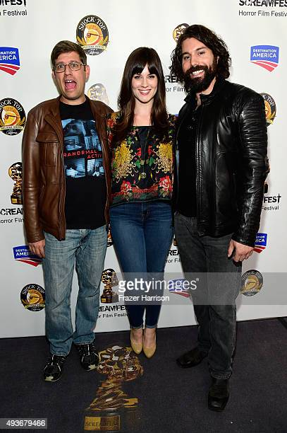Filmmaker Oren Peli and actors Katie Featherston and Micah Sloat attend a screening and QA at Screamfest for the Original Paranormal Activity at the...