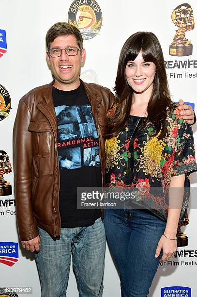 Filmmaker Oren Peli and actress Katie Featherston attend a screening and QA at Screamfest for the Original Paranormal Activity at the TCL Chinese...