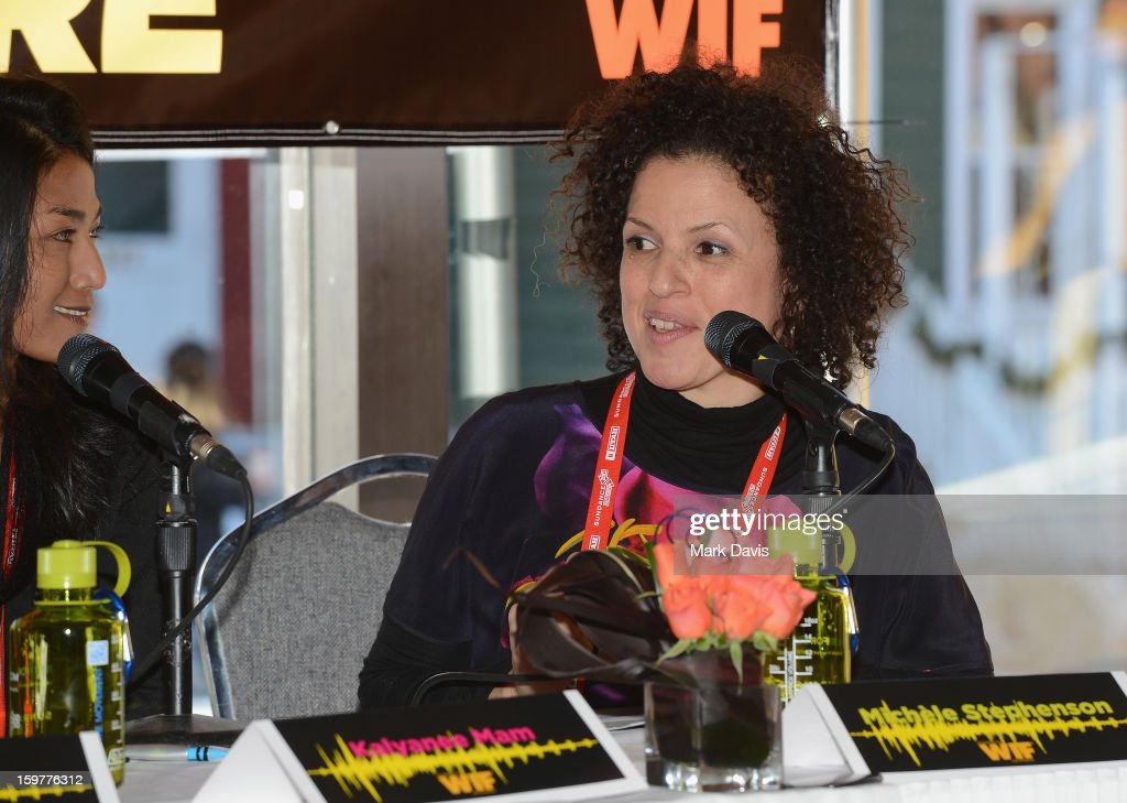 Filmmaker panelists Freida Mock and Michele Stephenson speak during the Women In Film's Sundance Filmmakers Panel presented by Skywalker Sound on January 20, 2013 in Park City, Utah.
