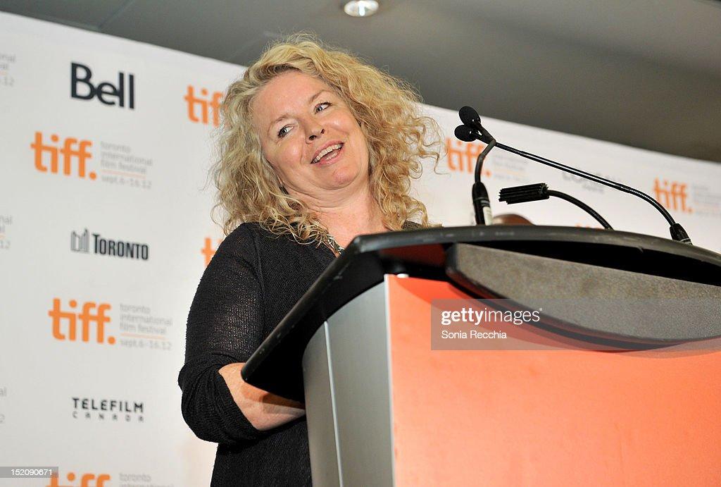 Filmmaker Patricia Rozema speaks at the 37th Toronto International Film Festival Award Winner Ceremony held at the InterContinental Toronto Center Hotel on September 16, 2012 in Toronto, Canada.