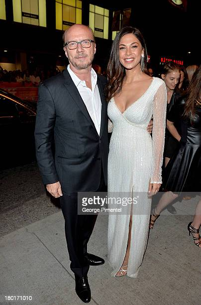 Filmmaker Paul Haggis and actress Moran Atias arrive at the 'Third Person' Premiere during the 2013 Toronto International Film Festival at The Elgin...