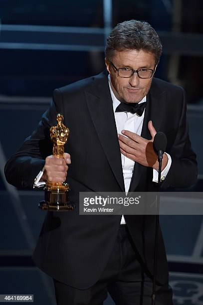 Filmmaker Pawel Pawlikowski accepts the Best Foreign Language Film Award for 'Ida' onstage during the 87th Annual Academy Awards at Dolby Theatre on...