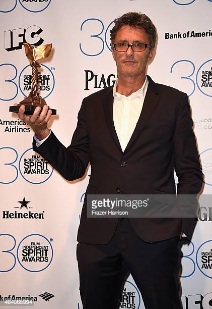 Filmmaker Pawel Pawlikowski winner of the Best International Film for 'Ida' poses in the press room during the 2015 Film Independent Spirit Awards at...
