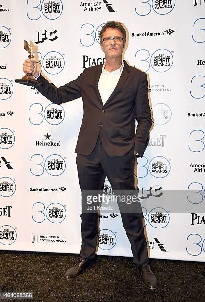 Filmmaker Pawel Pawlikowski winner of the Best International Film for 'Ida' poses in the press room at the 2015 Film Independent Spirit Awards on...