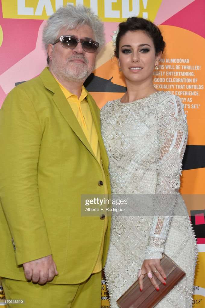 Filmmaker Pedro Almodovar and actress Blanca Suarez arrive at the 2013 Los Angeles Film Festival Opening Night Gala Premiere of 'I'm So Excited' at...
