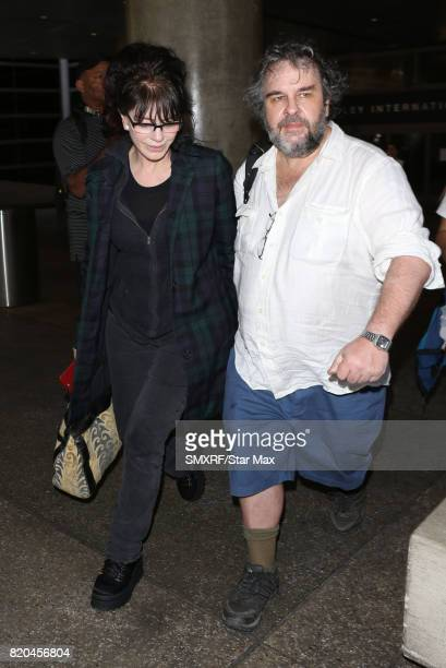 Filmmaker Peter Jackson and Fran Walsh seen on July 21 2017 in Los Angeles California
