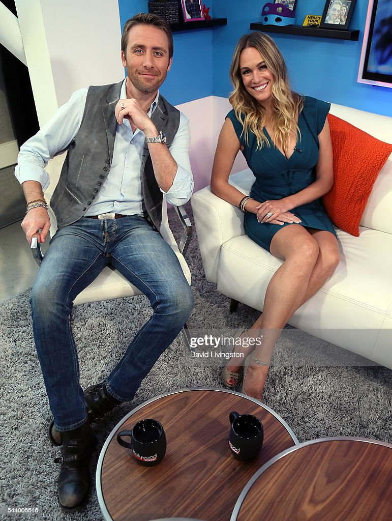Filmmaker Philippe Cousteau Jr. (L) and wife <a gi-track='captionPersonalityLinkClicked' href=/galleries/search?phrase=Ashlan+Gorse&family=editorial&specificpeople=5483648 ng-click='$event.stopPropagation()'>Ashlan Gorse</a> visit Hollywood Today Live at W Hollywood on June 30, 2016 in Hollywood, California.