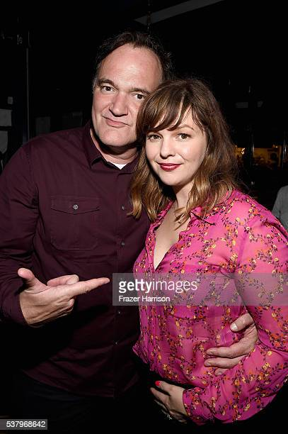 Filmmaker Quentin Tarantino and filmmaker Amber Tamblyn attend the LA Film Festival premiere of Tangerine Entertainment's 'Paint It Black' at Bing...