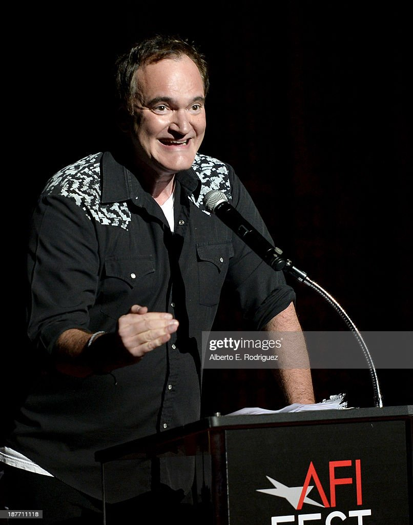 Filmmaker <a gi-track='captionPersonalityLinkClicked' href=/galleries/search?phrase=Quentin+Tarantino&family=editorial&specificpeople=171796 ng-click='$event.stopPropagation()'>Quentin Tarantino</a> attends the Tribute to Bruce Dern with SAG-AFTRA, SAGindie And The National SAGindie Committee during AFI FEST presented by Audi at The Roosevelt Hotel on November 11, 2013 in Hollywood, California.