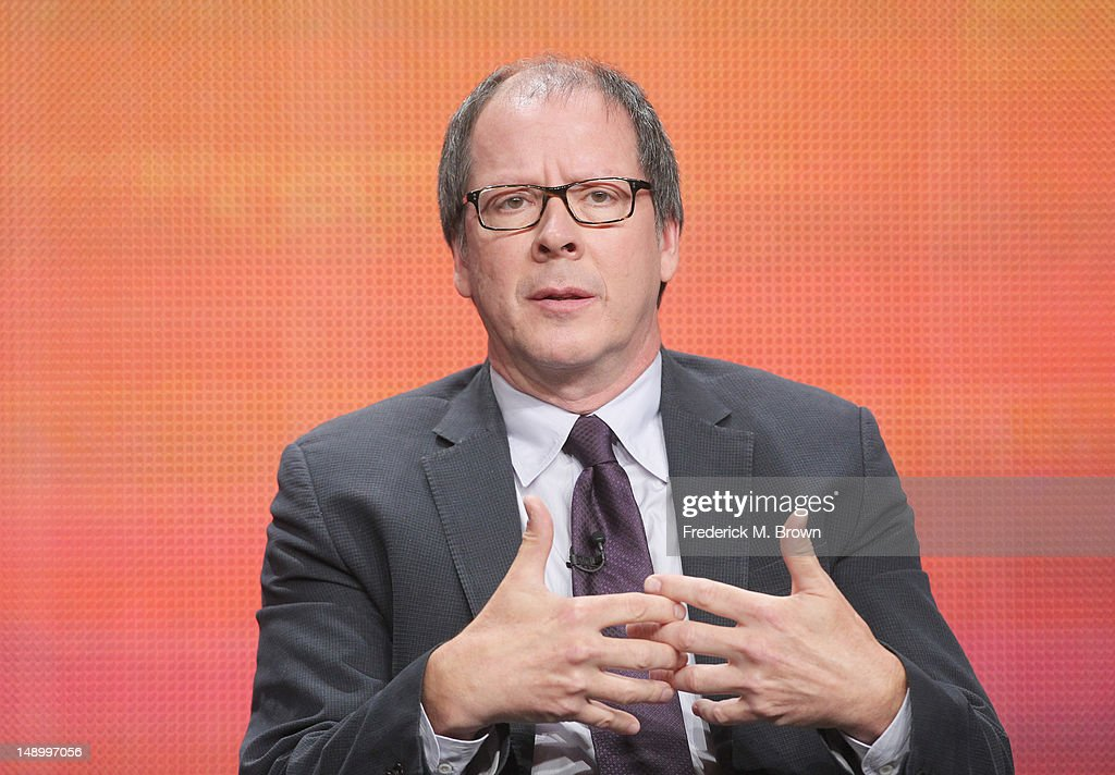 Filmmaker Ric Burns speaks onstage at the American Experience 'Death and the Civil War' panel during day 1 of the PBS portion of the 2012 Summer TCA Tour held at the Beverly Hilton Hotel on July 21, 2012 in Beverly Hills, California.