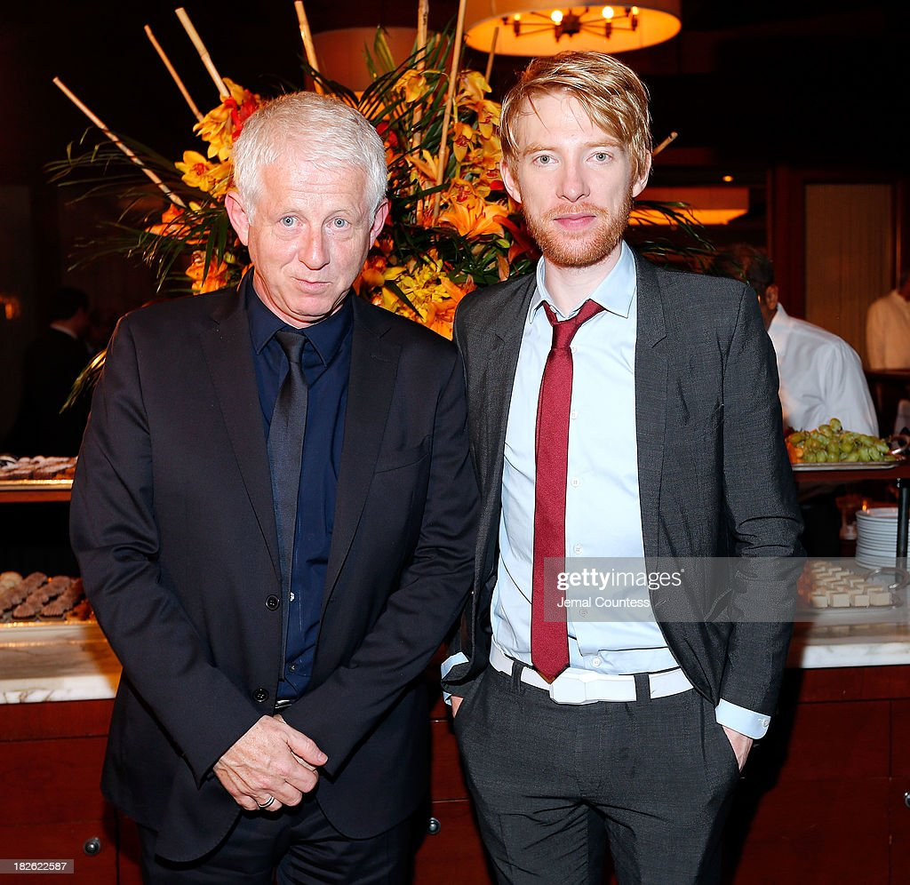 Filmmaker <a gi-track='captionPersonalityLinkClicked' href=/galleries/search?phrase=Richard+Curtis+-+Screenwriter&family=editorial&specificpeople=209106 ng-click='$event.stopPropagation()'>Richard Curtis</a> and actor <a gi-track='captionPersonalityLinkClicked' href=/galleries/search?phrase=Domhnall+Gleeson&family=editorial&specificpeople=653261 ng-click='$event.stopPropagation()'>Domhnall Gleeson</a> attend the after party for the 'About Time' & 'Jimmy