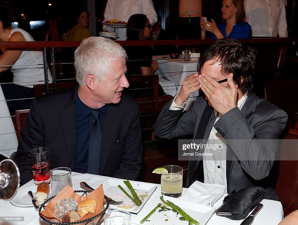 Filmmaker Richard Curtis and singer-songwriter Ben Folds attend the after party for the 'About Time' & 'Jimmy