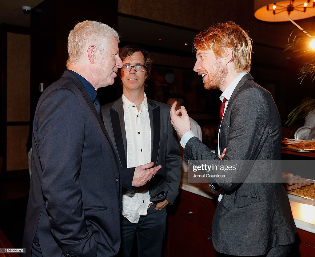 Filmmaker Richard Curtis, singer-songwriter Ben Folds and actor Domhnall Gleeson attend the after party for the 'About Time' & 'Jimmy