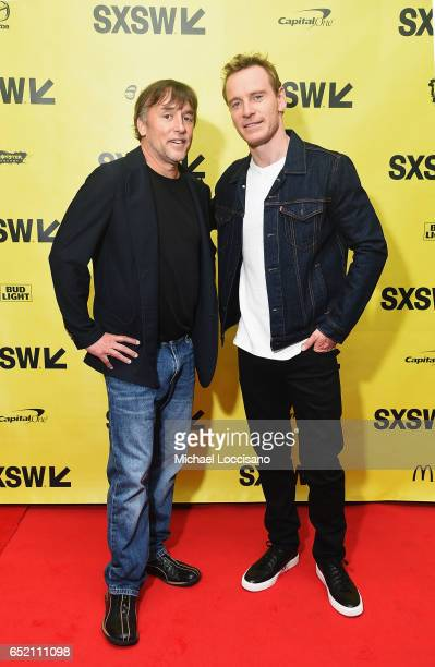 Filmmaker Richard Linklater and actor Michael Fassbender attend the Made in Austin A Look Into 'Song To Song' panel discussion during 2017 SXSW...