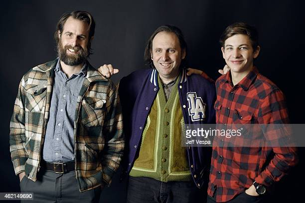 Filmmaker Rick Alverson writer Gregg Turkington and actor Tye Sheridan of 'Entertainment' pose for a portrait at the Village at the Lift Presented by...