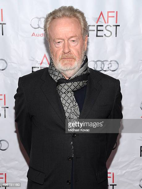 Filmmaker Ridley Scott attends 'On Directing A Conversation with Ridley Scott' during AFI FEST 2015 presented by Audi at TCL Chinese 6 Theatres on...