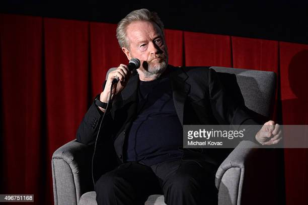 Filmmaker Ridley Scott speaks onstage at 'On Directing A Conversation with Ridley Scott' during AFI FEST 2015 presented by Audi at TCL Chinese 6...