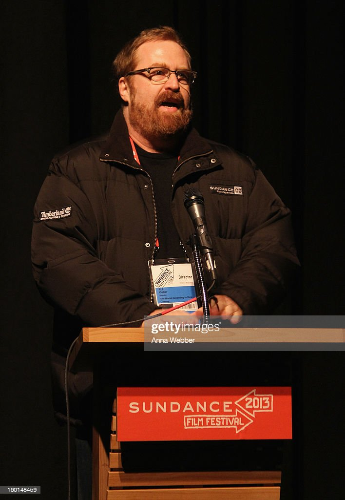 Filmmaker R.J. Cutler speaks at the 'The World According To Dick Cheney' Premiere at The Marc Theatre on January 17, 2013 in Park City, Utah.