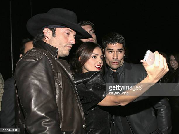 Filmmaker Robert Rodriguez and actors Eiza Gonzalez and DJ Cotrona at 'From Dusk Till Dawn The Series' Pilot Photo Op and QA during the 2014 SXSW...