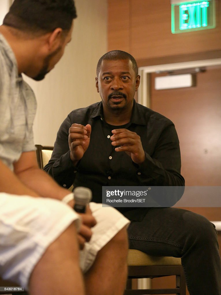 Filmmaker Robert Townsend (R) speaks with a guest during the ABFF Encore Master Class during the 2016 BET Experience at the JW Marriott Los Angeles L.A. Live on June 25, 2016 in Los Angeles, California.
