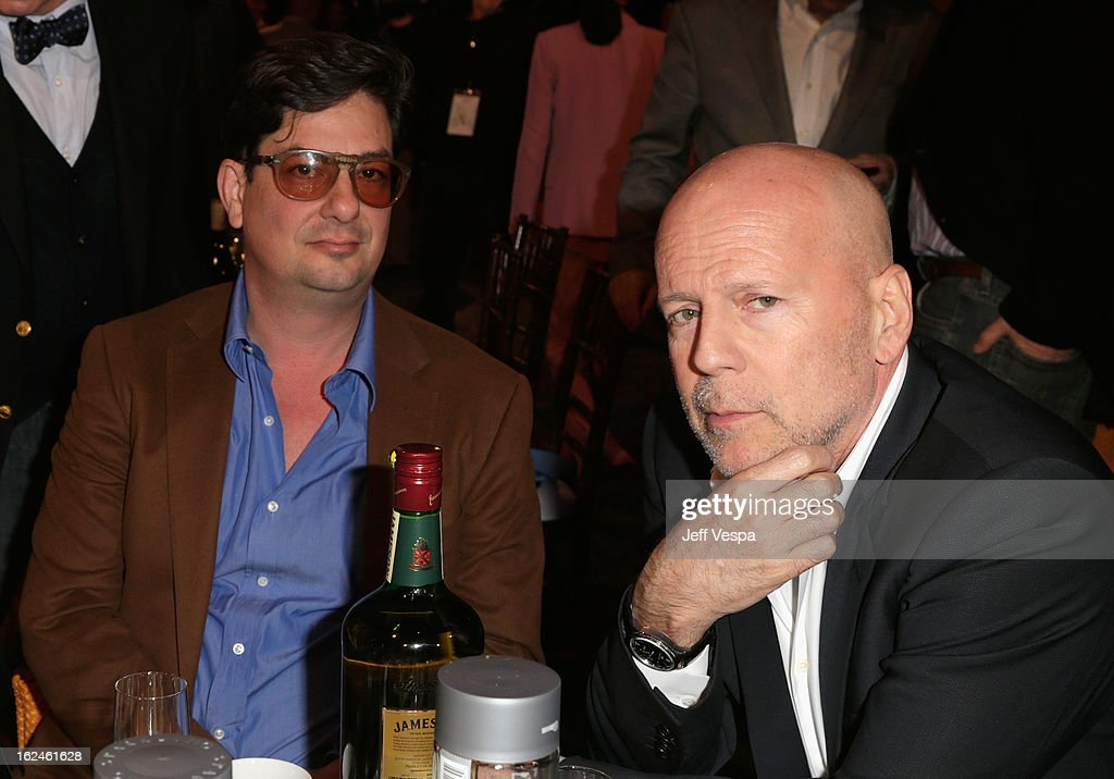 Filmmaker <a gi-track='captionPersonalityLinkClicked' href=/galleries/search?phrase=Roman+Coppola&family=editorial&specificpeople=615097 ng-click='$event.stopPropagation()'>Roman Coppola</a> (L) and actor <a gi-track='captionPersonalityLinkClicked' href=/galleries/search?phrase=Bruce+Willis&family=editorial&specificpeople=202185 ng-click='$event.stopPropagation()'>Bruce Willis</a> attend the 2013 Film Independent Spirit Awards at Santa Monica Beach on February 23, 2013 in Santa Monica, California.
