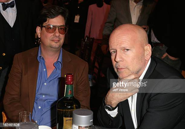 Filmmaker Roman Coppola and actor Bruce Willis attend the 2013 Film Independent Spirit Awards at Santa Monica Beach on February 23 2013 in Santa...