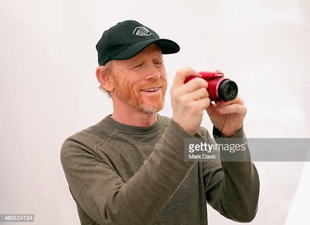 "Filmmaker Ron Howard attends the Canon ""Let It Snow"" Globe spectacle at Hollywood Highland on December 13 2014 in Hollywood California"