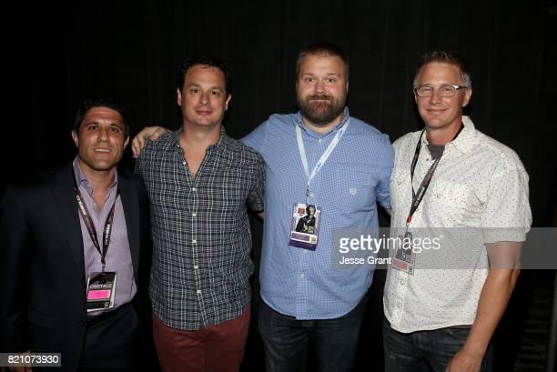 Filmmaker Rory Karpf producer David Alpert comic book writer Robert Kirkman and filmmaker Daniel Junge during the Robert Kirkman's Secret History Of...