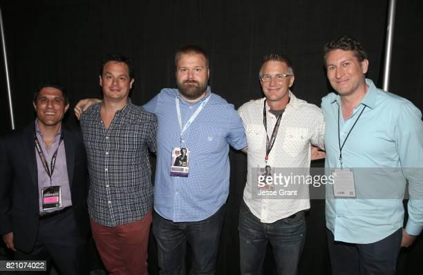 Filmmaker Rory Karpf producer David Alpert comic book writer Robert Kirkman filmmaker Daniel Junge and actor/ moderator Scott Aukerman during the...