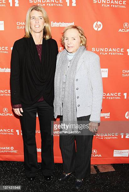 Filmmaker Rory Kennedy and Ethel Kennedy attend the 'Ethel' premiere held at the MARC Theatre during the 2012 Sundance Film Festival on January 20...