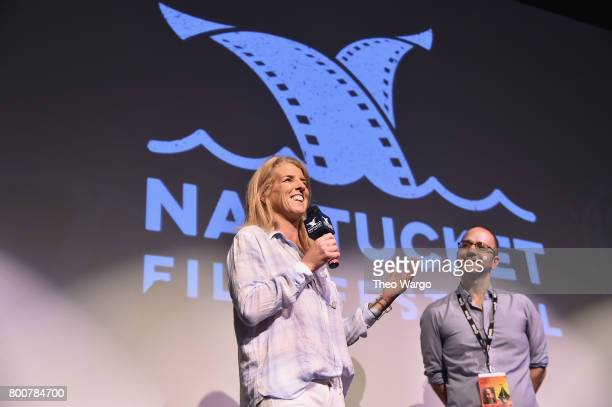Filmmaker Rory Kennedy and Film Program Director Nantucket Film Festival Basil Tsiokos attend the QA of Spotlight Film 'Take Every Wave The Life of...