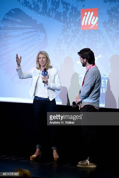 Filmmaker Rory Kennedy and producer of Nantucket Film Festival Bill Curran speak onstage at The 19th Annual Nantucket Film Festival on June 27 2014...