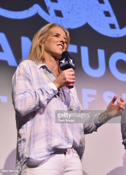 Filmmaker Rory Kennedy attends the QA of Spotlight Film 'Take Every Wave The Life of Laird Hamilton' during the 2017 Nantucket Film Festival Day 5 on...