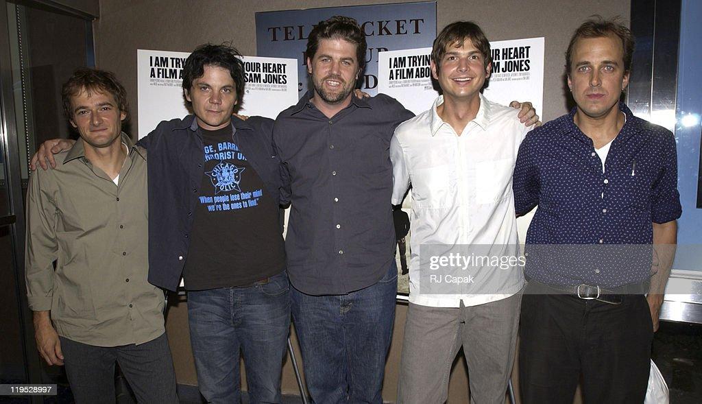 Filmmaker Sam Jones (C), & the band Wilco: John Stirratt, Jeff Tweedy, Glenn Kotche & Leroy Bach