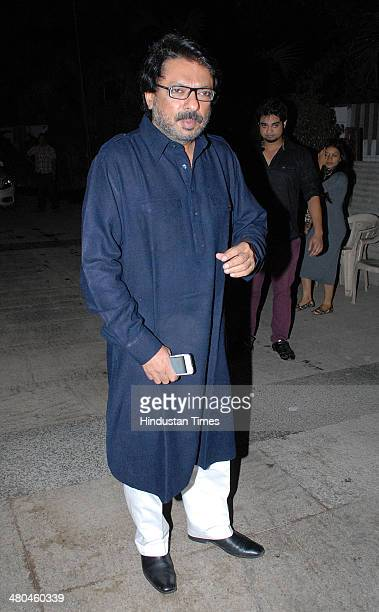 Filmmaker Sanjay Leela Bhansali during birthday party of Bollywood actor Kangana Ranaut at her residence in Khar on March 23 2014 in Mumbai India