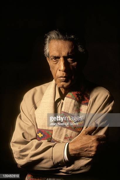 Filmmaker Satyajit Ray in Calcutta India in 1997