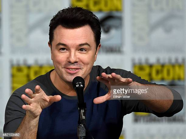 Filmmaker Seth MacFarlane attends the Seth MacFarlane Animation Block panel during ComicCon International 2015 at the San Diego Convention Center on...