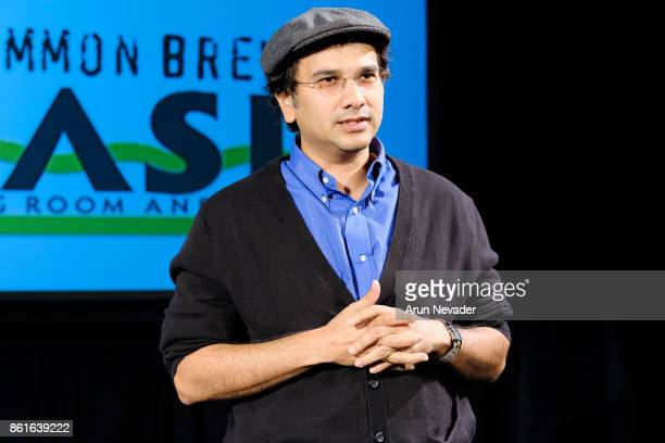 Filmmaker Shankey Srinivasan leads Q and A for his film The Last Smile at the Santa Cruz Film Festival at Tannery Arts Center on October 14 2017 in...