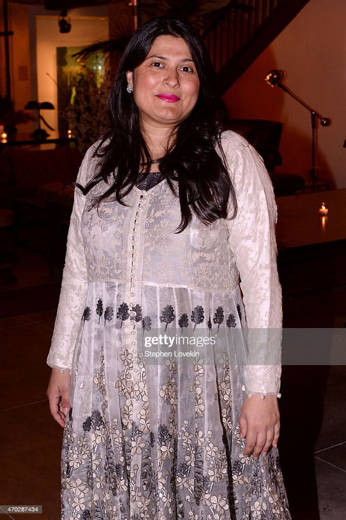 Filmmaker <a gi-track='captionPersonalityLinkClicked' href=/galleries/search?phrase=Sharmeen+Obaid-Chinoy&family=editorial&specificpeople=5581145 ng-click='$event.stopPropagation()'>Sharmeen Obaid-Chinoy</a> attends Natalie Massenet, Arianna Huffington, and Jenna Lyons celebrate the Tribeca Film Festival Premiere Of 'Song of Lahore' at Neuehouse on April 18, 2015 in New York City.